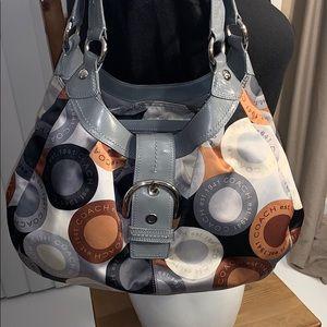 Coach D1082-F15198 Soho Scarf Print Shoulder Bag.